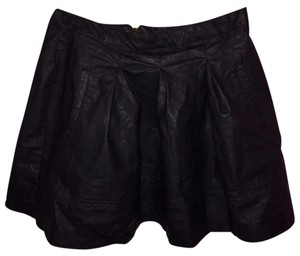 Forever 21 Faux Leather Mini Skirt Black