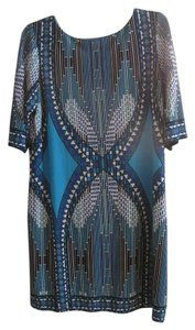 Sandra Darren short dress TEAL, ROYAL BLUE AND BLACK on Tradesy