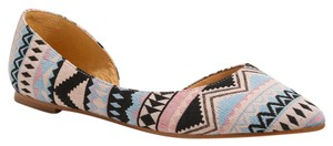 J.Crew multi color aztec Flats