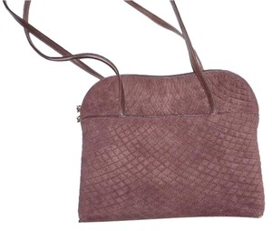 Bally Checkerboard Design Quilted Suede Print Dressy Or Casual Mint Vintage Footed Bottom Shoulder Bag