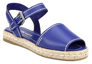 Prada Royal Espadrille Blue Sandals