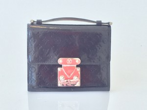 Louis Vuitton Louis Vuitton Black Monogram Vernis Trifold Clutch Noir Wristlet