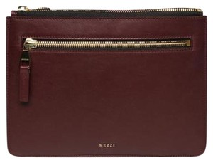 Mezzi Summer Leather Wine Clutch