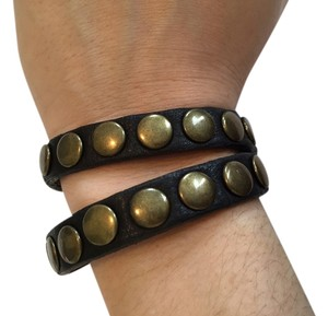 Fioccini Studded Brown Wrap Bracelet