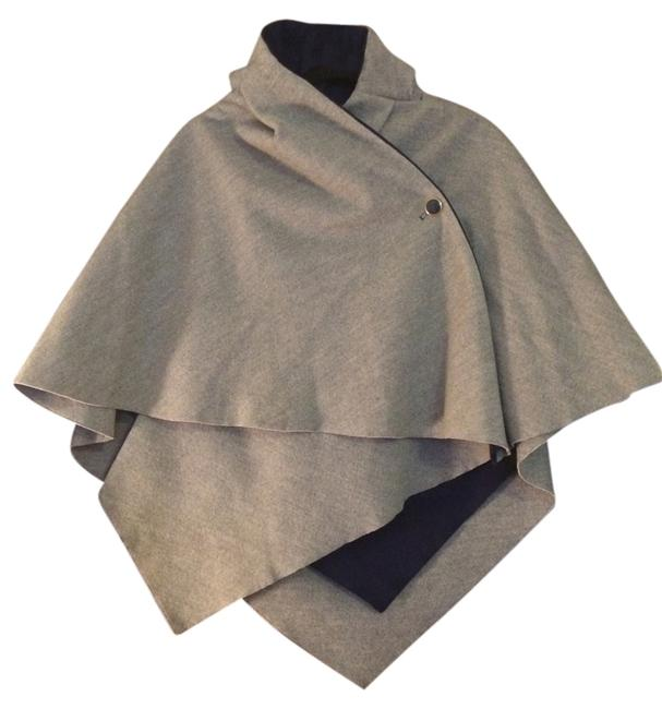Item - Gray and Navy Poncho/Cape Size OS (one size)