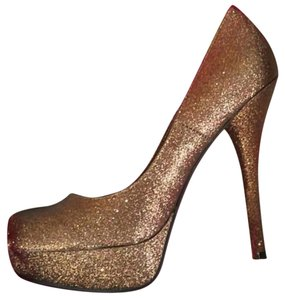 JustFab Stilletto Heels 5in Heels 5in Stilletto Gold Pumps