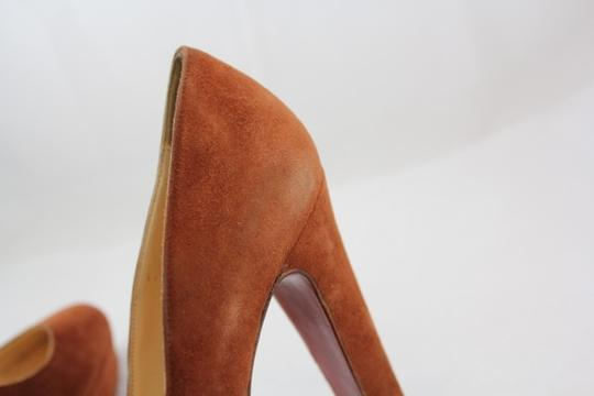 Christian Louboutin Suede Loub Brown Pumps
