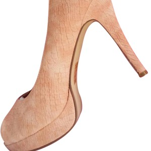 JustFab Heels Designer Peach Pumps