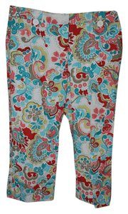 Ann Taylor LOFT Capris Multi Color