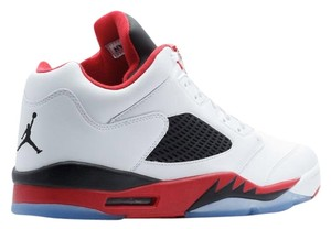 Nike White. Fire Red. Black Athletic