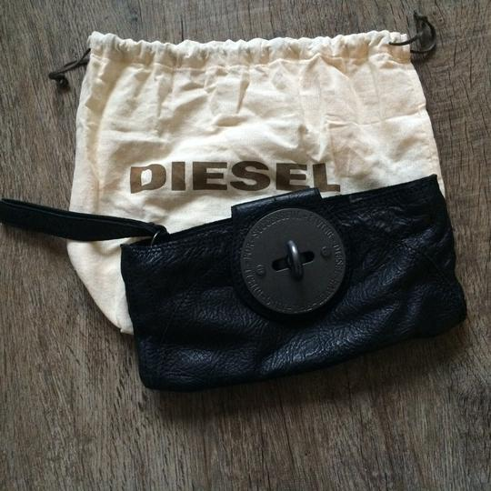 Diesel Leather Black Clutch