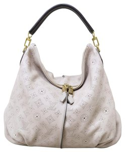Louis Vuitton Lv Selene Mm Perforated Hobo Satchel in nude