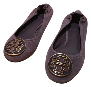 Tory Burch Deep Purple Suede Flats