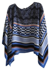 Sharagano Top BLUE AND ORANGE