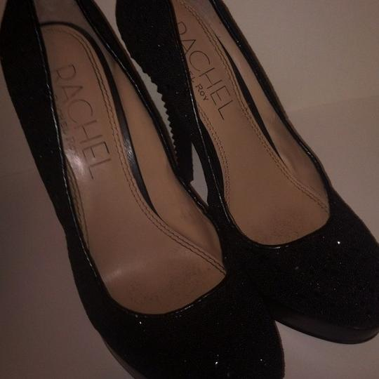 Rachel Roy Studded Formal Club Wear Hot Sexy Sparkly Sparkle Black Pumps