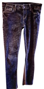 Buffalo David Bitton Rhinestone Fendi Stretchy Mid Rise Skinny Jeans-Acid