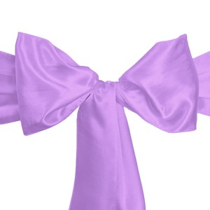100 Lavender Satin Chair Sashes