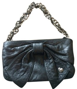 Juicy Couture Runway Collection Evening Studded Chain Black Clutch