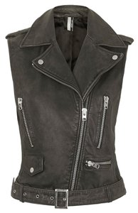 Topshop Moto Biker Leather Vest