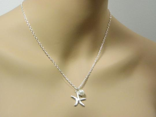 White Cream Bridesmaid Starfish Starfish Gift Bridesmaid Starfish and Pearl Necklace