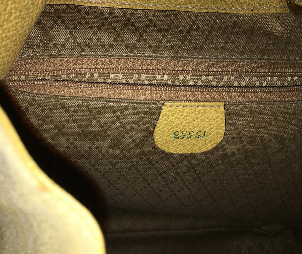 Gucci Skin Verde Lime Ostrich Leather Suede Bamboo Backpack - Tradesy 8334b3a46747b