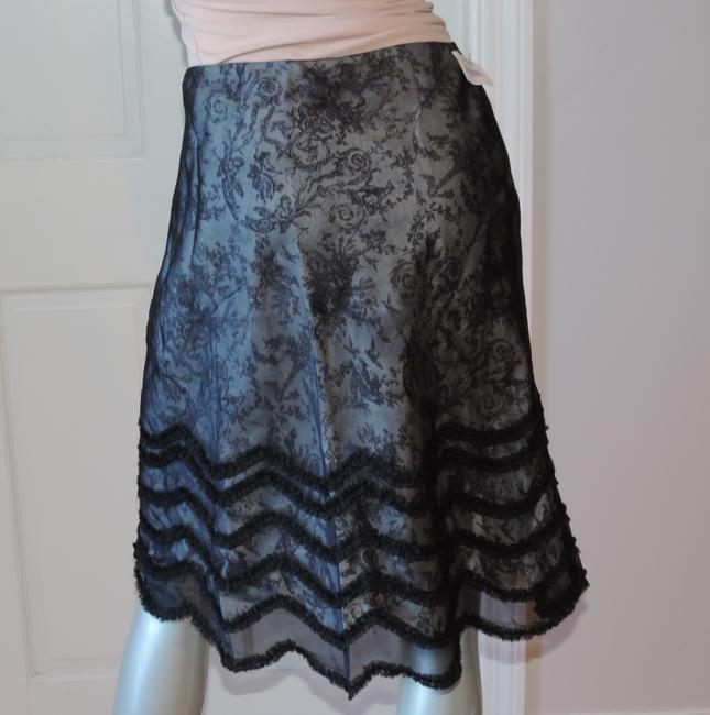 Kay Unger New With Tag Size 10 Occasion Party & Silk Skirt black & gray