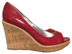 Guess Red Wedges