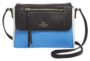Kate Spade Leather Blue Black Ivory Cross Body Bag