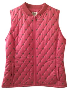 Lilly Pulitzer Quilted Embroidered Hidden Pocket Vest