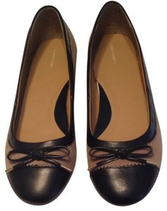 Lands' End Tan W/ Black Flats