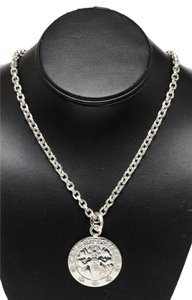 Chrome Hearts Chrome Hearts Sterling Silver Chain Angel Medallion Necklace
