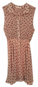 Sweet Rain short dress peach Sheer Scotty Dogs on Tradesy