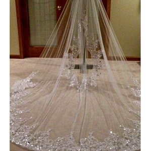 Lilly White Cathedral Veil