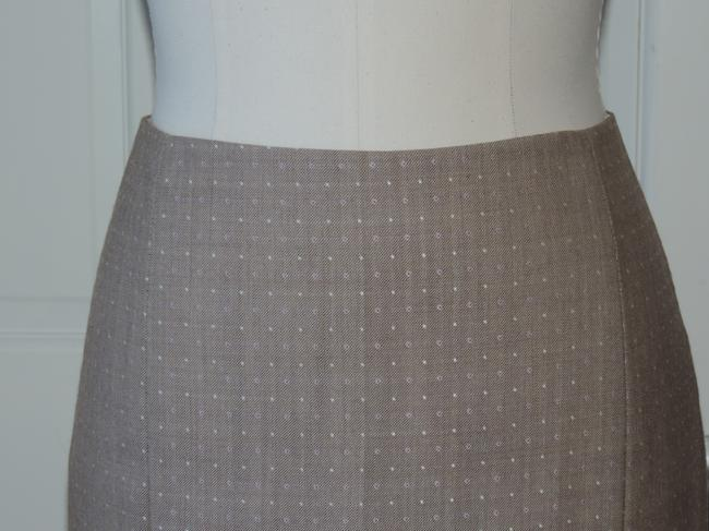 Rebecca Taylor Twill Suiting Spring Career Skirt light taupe