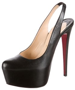 Christian Louboutin Daffodile Hidden Platform Black Pumps