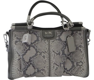 Coach Leather Python Shoulder Bag