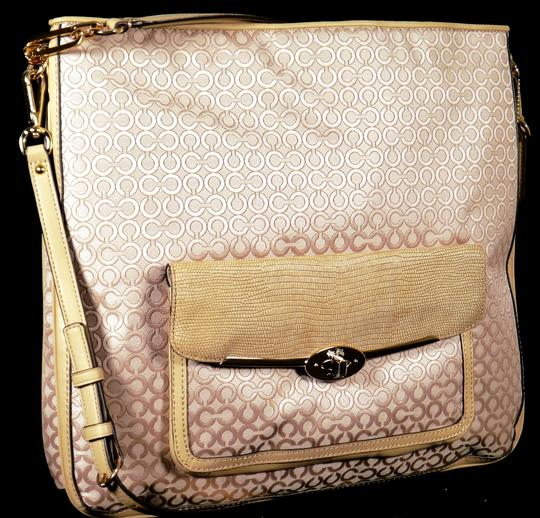 Coach Satchel in Pearl and Cream
