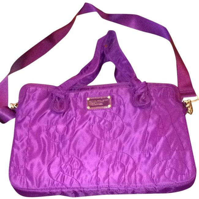 Item - Cross Body Purple Canvas Laptop Bag