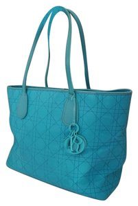 Dior Christian Shopper Satchel in Turquoise