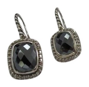 David Yurman David Yurman Noblesse Collection - Hematine & Diamond Drop Earrings
