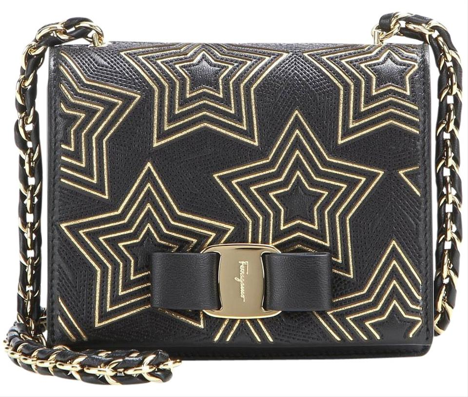 fdeb14f70e9a Salvatore Ferragamo Embroidered Embellished Limited Edition Lambskin Star  Print Shoulder Bag Image 0 ...