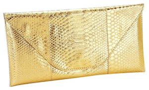 Other Snake Skin Print. Metalic Gold Clutch