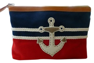 BRIGHTON NWT ANCHORS AWAY POUCH WITH LONG LEATHER STRAP Tote in Nautical