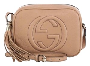 9aacb2c6f Gucci Soho Disco Sold Out Color Nude Camellia Leather Shoulder Bag ...