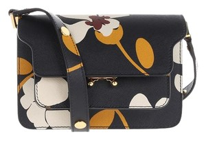 Marni Trunk Leather Saffiano Leather Shoulder Bag