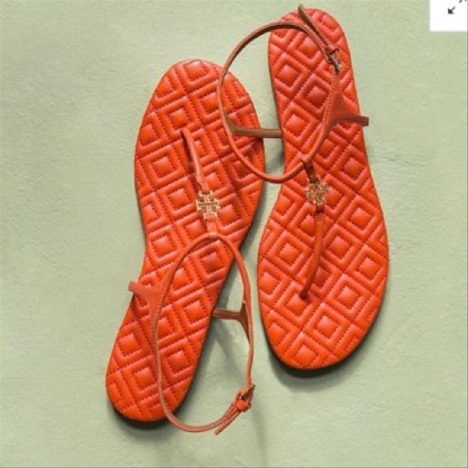 37417599b Tory Burch Poppy Red Marion Quilted Sandals. Size  US 9.5 Regular (M ...