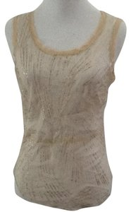 Rozae Nichols Silk Cotton Chic Top Beige