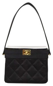 Chanel Evening Quilted Satin Baguette