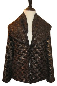 Alice + Olivia Metallic Brown Jacket