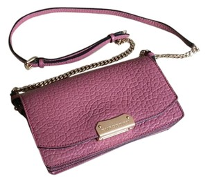 Burberry Wallet On Chain Madison Cross Body Signature Grained Leather Antique Rose/Pink Mauve Clutch